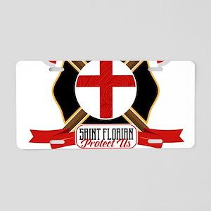 Saint Florian Shield Aluminum License Plate