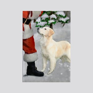 Golden Retriever Christmas Rectangle Magnet (10 pa