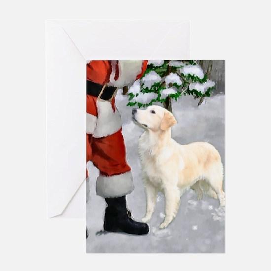 Golden Retriever Christmas Greeting Card