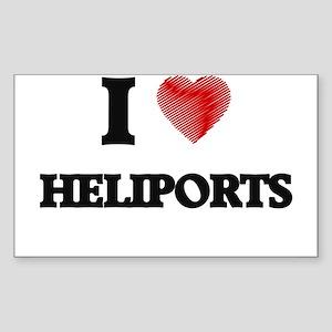 I love Heliports Sticker