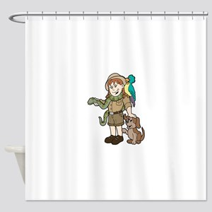 Zoo Keeper Shower Curtain