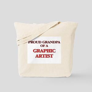 Proud Grandpa of a Graphic Artist Tote Bag