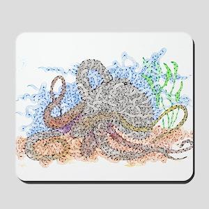Zentangle Octopus Mousepad