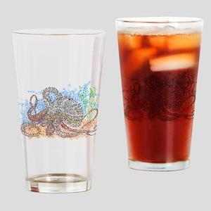 Zentangle Octopus Drinking Glass