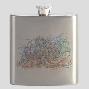 Zentangle Octopus Flask