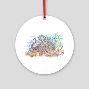 Zentangle Octopus Round Ornament