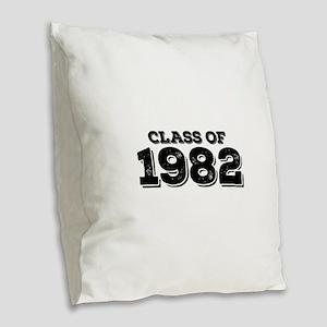 Class of 1982 Burlap Throw Pillow