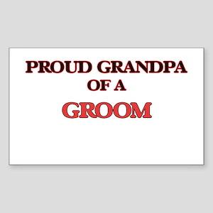 Proud Grandpa of a Groom Sticker