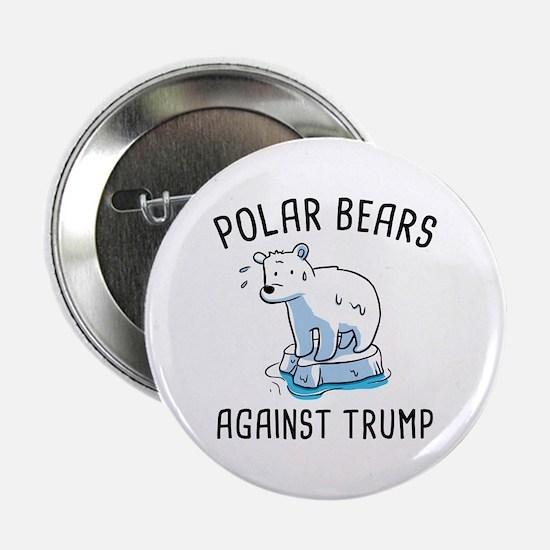 """Polar Bears Against Trump 2.25"""" Button"""