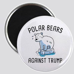 Polar Bears Against Trump Magnet