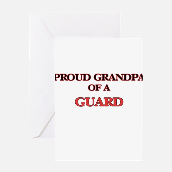 Proud Grandpa of a Guard Greeting Cards