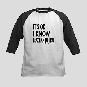 I Know Brazilian Jiu-Jitsu Kids Baseball Jersey