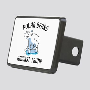 Polar Bears Against Trump Rectangular Hitch Cover