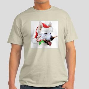 White Shep Christmas Light T-Shirt