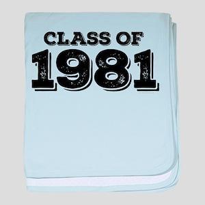 Class of 1981 baby blanket