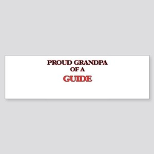 Proud Grandpa of a Guide Bumper Sticker