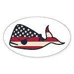 USA Whale Sticker
