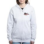 USA Whale Zip Hoodie