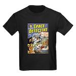 Space Detective 1 Kids Dark T-Shirt