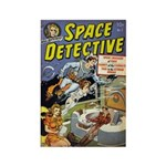 Space Detective 1 Rectangle Magnet