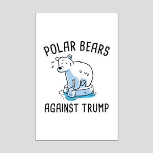 Polar Bears Against Trump Mini Poster Print