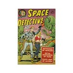 Space Detective 2 Rectangle Magnet