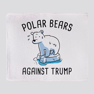 Polar Bears Against Trump Stadium Blanket