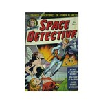 Space Detective 4 Rectangle Magnet