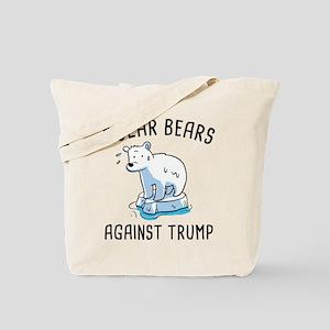 Polar Bears Against Trump Tote Bag