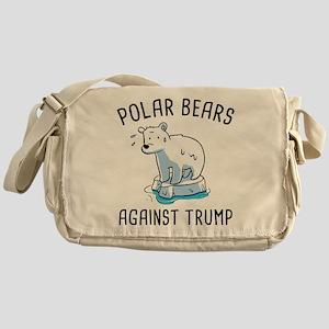 Polar Bears Against Trump Messenger Bag