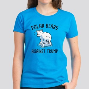 Polar Bears Against Trump Women's Dark T-Shirt