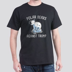Polar Bears Against Trump Dark T-Shirt