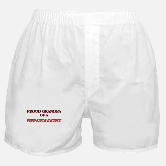 Proud Grandpa of a Hepatologist Boxer Shorts