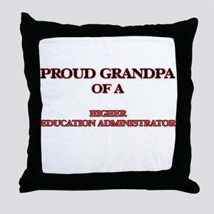 Proud Grandpa of a Higher Education A Throw Pillow