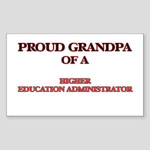 Proud Grandpa of a Higher Education Admini Sticker