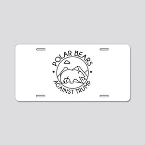 Polar Bears Against Trump Aluminum License Plate