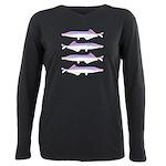 Cornish Jack Fish Plus Size Long Sleeve Tee