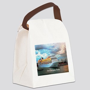 Port Everglades Canvas Lunch Bag