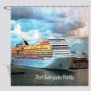Port Everglades Shower Curtain