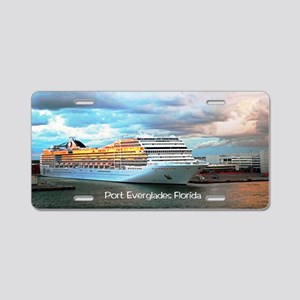 Port Everglades Aluminum License Plate
