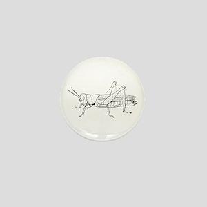 Grasshopper silhouette Mini Button