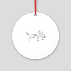 Grasshopper silhouette Round Ornament
