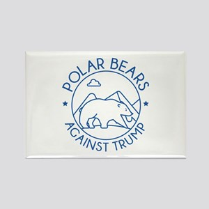 Polar Bears Against Trump Rectangle Magnet