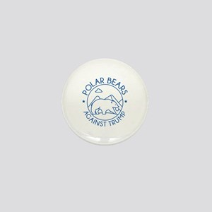 Polar Bears Against Trump Mini Button