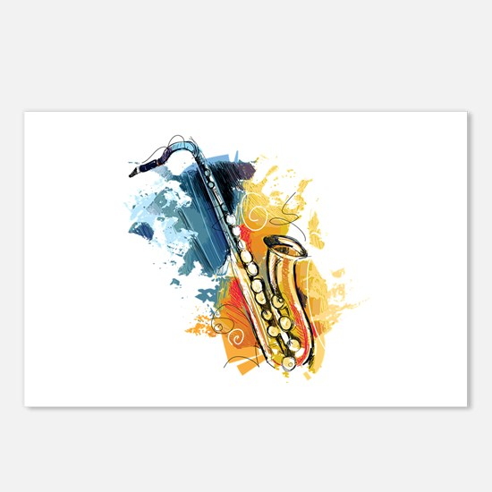 Saxophone Painting Postcards (Package of 8)