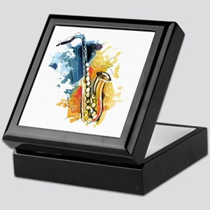 Saxophone Painting Keepsake Box