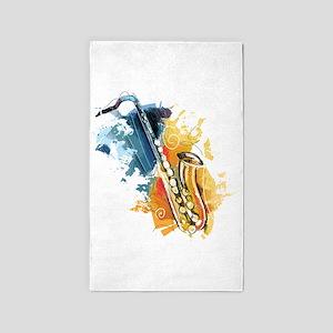 Saxophone Painting Area Rug