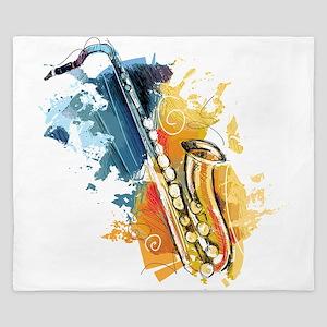 Saxophone Painting King Duvet