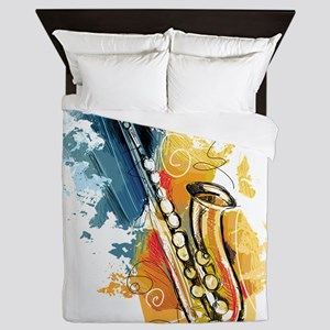 Saxophone Painting Queen Duvet