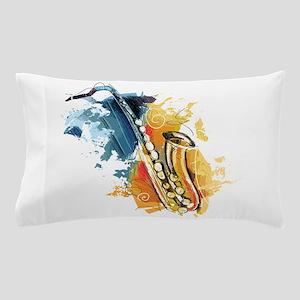 Saxophone Painting Pillow Case